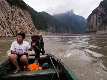 Wu gorge of Three gorges of Yangtze